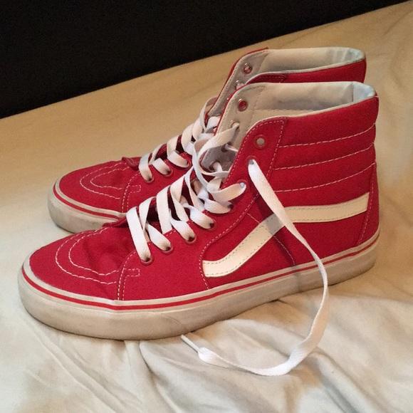 57e5c587b7 Vans Sk8-Hi Crimson   True White (Red). M 5a466832b7f72b9f0a112a3d